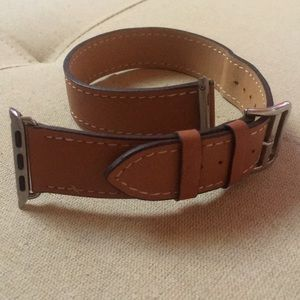 Accessories - Handcrafted Leather Wrap Apple Watch Strap, Brown